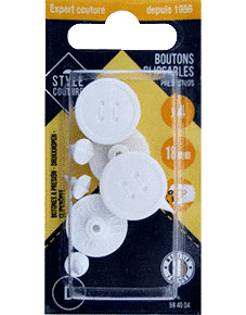 Boutons clipsables Style Couture