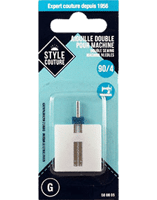 Aiguilles doubles machine