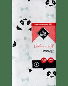 Coupon de tissu motif animal