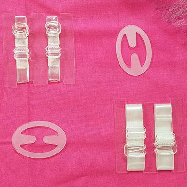 Bretelles transparentes et cache bretelles