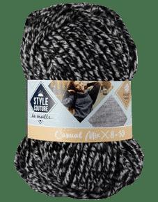 Fil à tricoter en coton chiné